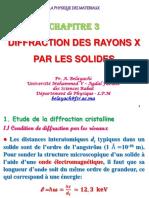 Introduction à La Physique Des Matériaux Chapitre 3 Diffraction Des Rayons X Par Les Solides