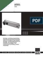 Montaje Iluminacion Rittal 4139190 Instrucciones