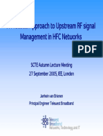 A Practical Approach to Upstream RF Signal Management in HFC Networks