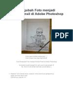 Cara Mengubah Foto Menjadi Sketsa Pensil Di Adobe Photoshop