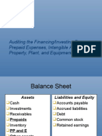 auditing the financing and investing process