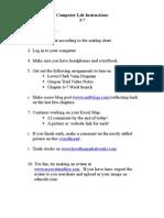 Computer Lab Instructions 5-7