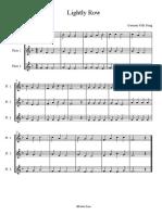 Lightly Row Flute Trio