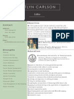 freelance editing resume