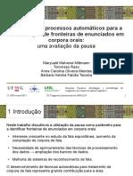 Em busca de processos automáticos para a identificação de fronteiras de enunciados em corpora orais