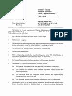tProposed Order or Document, Pt. 1