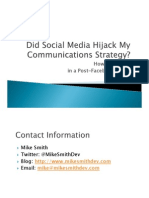 Did Social Media Hijack My Marketing and Communications Strategies