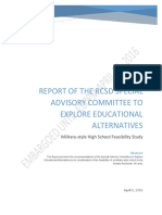 Embargoed - Final Report of the Special Military Academy Advisory Committee - April 9 2016