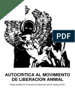 Autocritica Al Movimiento de Liberacion Animal
