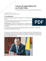 Capturan a hermano de expresidente de Colombia Álvaro Uribe Vélez