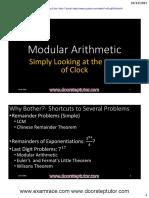 Modular Arithmetic Youtube Lecture Handouts