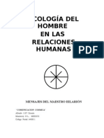 Ecología del Hombre en las Relaciones Humanas, Maestro Hilarion