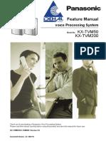 Panasonic KX-TVM50 200 Feature Manual
