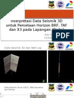 Interpretasi Data Seismik 3D Untuk Pemetaan Horizon BRF, TAF Dan X3 Pada Lapangan Siboan Tona