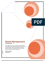 Assignment 7 - Brand Management