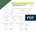 Ficha Suma Infinitos Terminos Sucesion Geometrica