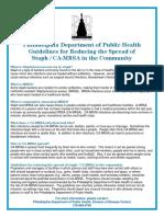 CA MRSA Guidelines