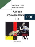 À l'École d'Amadou Hampâté Bâ