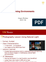 10 learning enviroments