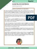 5to Grado - Español - Analizar Relatos Históricos
