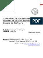 Soc. de La Religion-2do Parcial_2012