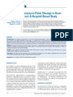 Efficacy of Azithromycin Pulse Therapy in Acne Vulgaris Treatment