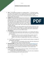 multimedia summary sheet