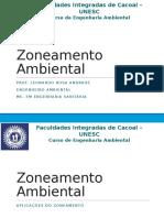 Zoneamento Ambiental - Aula 03 - Aplicações Do Zoneamento