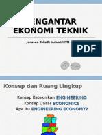 01 Pengantar Ekonomi Teknik #1