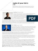management team bios for google