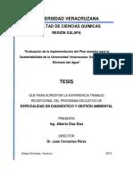 Evaluación de la implementación del Plan maestro para la Sustentabilidad de la Universidad Veracruzana