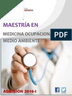 Maestría en Medicina Ocupacional y Del Medio Ambiente 2016