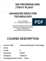 Advanced Nuclear Reactor Technology Course