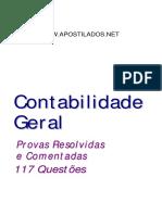 Contabilidade Geral - 117 Questoes Resolvidas