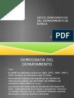 Datos Demograficos Del Departamento de Boyacá