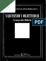 Villacañas Berlanga, Jose Luis - Narcisismo y Objetividad. Un Ensayo Sobre Hölderlin. Ed. Verbum 1997 (1)