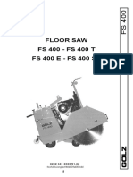 Golz FS400 Operators And Parts Manual