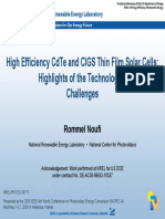 Solar CdTe Cells