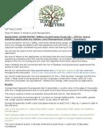 Tuffley Matters Letter to Developmental Control