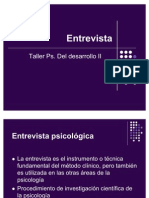Entrevista Psicológica (EVOLUTIVA DESARROLLO)