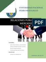 Las Relaciones Públicas - Mercadotecnia