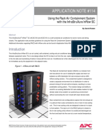 An-114 Guidelines for Using Rack Air Containment System With InfraStruXure InRow SC