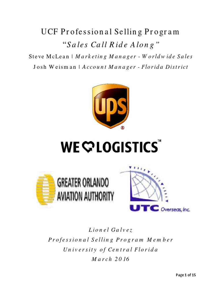 Sales Call Ride Along - Official pdf | Sales | Nonverbal Communication