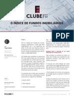 O Índice de Fundos IO Índice de Fundos Imobiliarios - Clube Fundos Investimento Imobiliáriomobiliarios - Clube Fundos Investimento Imobiliário