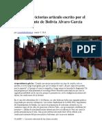 Derrotas y victorias artículo escrito por el Vicepresidente de Bolivia Alvaro García Linera.docx