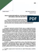 Malo Poduzetništvo Izvor Ekonomskog Progresa Republike Hrvatske,Renko