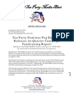 3rd party Tea Party Release First Quarter Report