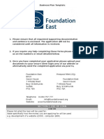 foundation east business plan template