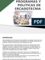 Programas y Politicas de Mercadotecnia