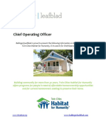 Twin Cities Habitat for Humanity - Chief Operating Officer - Executive Profile